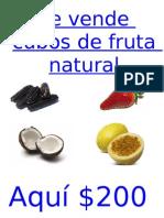 Se Vende Cubos de Fruta Natural