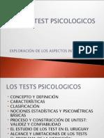 Los Test Psicologicos Teoricos