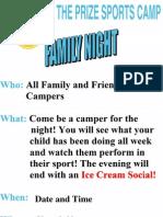 Family Night Flyer