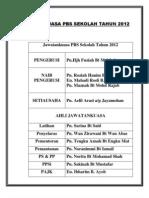 Jawatankuasa Pbs Sekolah Tahun 2012