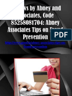 Reviews by Abney and Associates, Code 85258081704 - Abney Associates Tips on Fraud Prevention
