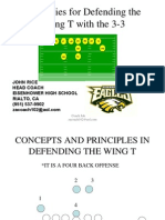 Strategies for defending the Wing -T with the 3-3 - John Rice