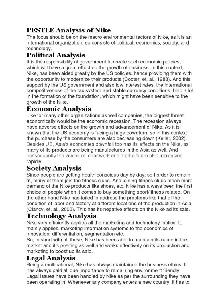 PESTLE Analysis Of Nike | Economic Growth | Economics