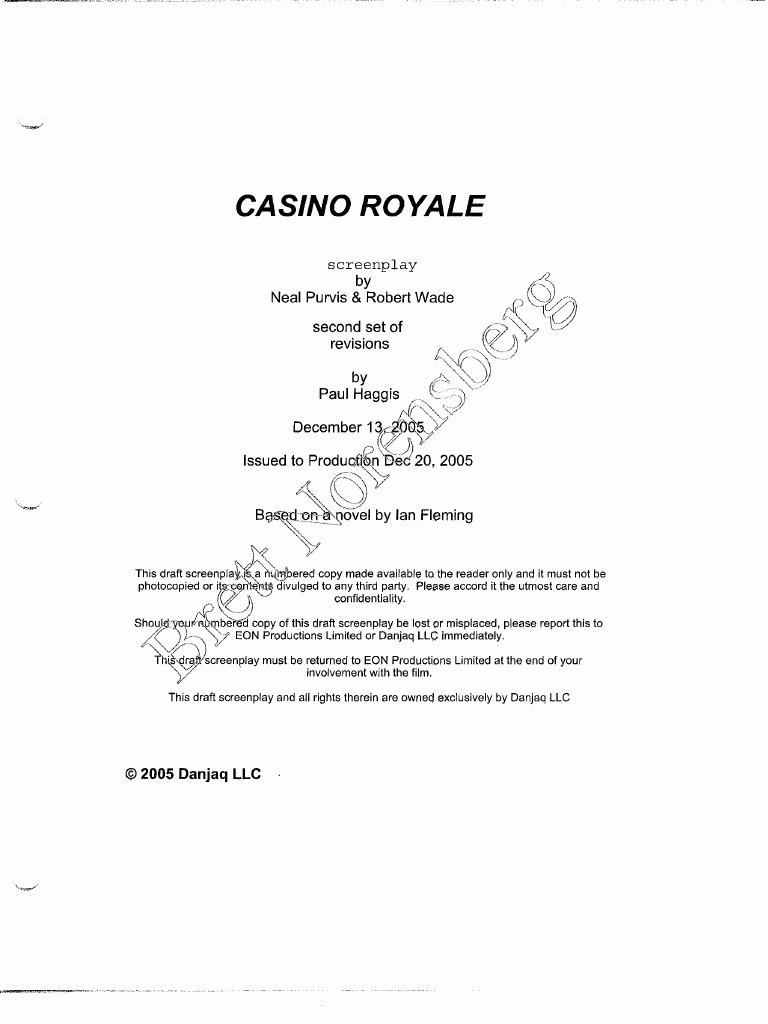 Casino royale original script free avp evolution game for android