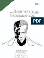 Terminator 2 Judgement Day Operations Manual