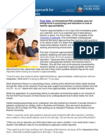 Looking at a new approach for  teachers and students
