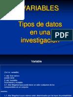 Tipos de Variables de Investigacion