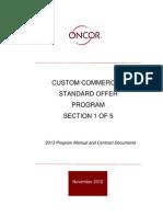 Oncor - Custom Commercial Standard Offer Program
