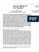 A Conceptual Model of Service Quality