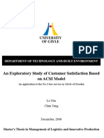 An Exploratory Study of Customer Satisfaction Based on ACSI Model