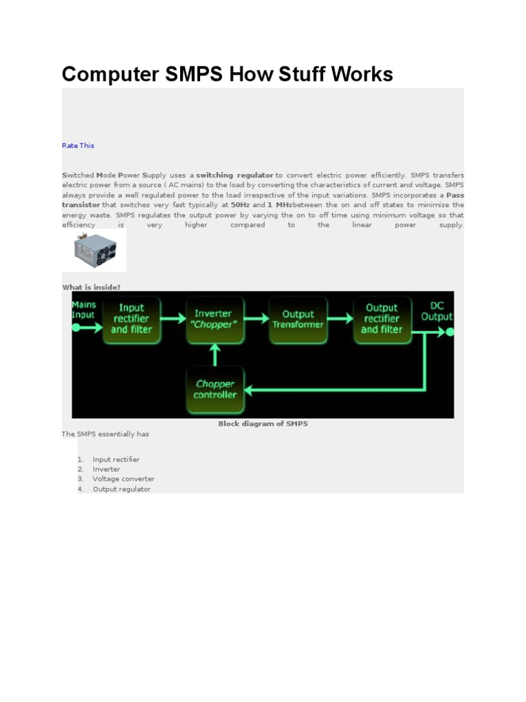 Great Computer Smps Contemporary - Electrical Circuit Diagram Ideas ...