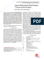 Analysis of Magneto Rheological Fluid Damper With Various Piston Profiles