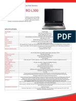 Toshiba SatelliteProL300 PSLB9A-00H002 Specification Brochure Jan'09