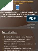 Post War Development - Sri Lanka
