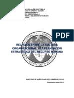Ensayo Cultura Organizacional Juan Francisco Emmanuel Oliva