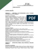 Programa Quimica Medicina 2011