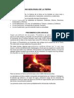 ERAS GEOLÓGICA DE LA TIERRA