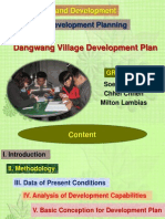 Presentation on Dangwang Village Plan