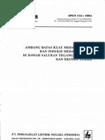 Batas Kuat Medan Listrik Dan Induksi Medan Maknit Di Bawah Saluran Tegangan Tinggi Dan Ekstra Tinggi_spln 112_1994