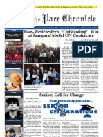The Pace Chronicle - Volume II, Issue XXII - 4.17.13 Issue