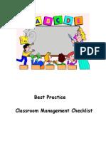 Best Practices Checklist