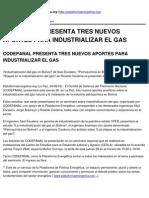 Plataformaenergetica.org - Codepanal Presenta Tres Nuevos Aportes Para Industrializar El Gas - 2010-08-25