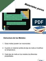 Clasificacion de Los Materiales (Materiales Puros)