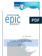 Special Report by Epic Research 30.04.13