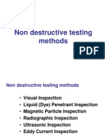 Non Destructive Testing Methods