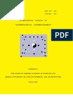 International Journal of Mathematical Combinatorics, Vol. 1, 2013