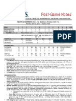 04.29.13 Post-Game Notes