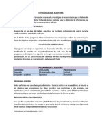 El Programa de Auditoria