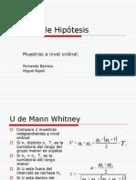 Dócima de Hipótesis Diferencia de grupo ordinales