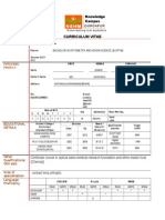 B.optom C.v for Clinical Internship