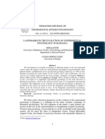 Istoria Psihologiei Experimentale in Romania