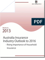 Australia Insurance market dominated by Household Insurance Industry