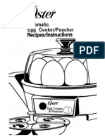 Oster Egg Cooker Manual
