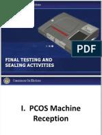 Final Testing and Sealing Activities Ver.1.1