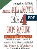 59571785 Alimentatia Adecvata Celor 4 Grupe Sanguine Dr Peter J D Adamo