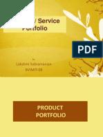 Product Service Portfolio