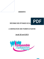 MEMENTO à destinations des parents mso