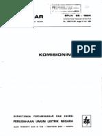 Komisioning Pltg Spln 58 1984