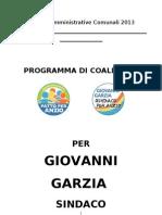 Programma per Giovanni Garzia Sindaco