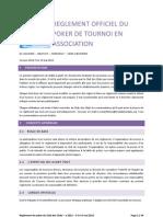 Reglement Officiel Du Poker de Tournoi en Association V2012-5