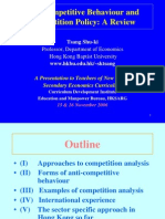 Anti-Competitive Behaviour and Competition Policy