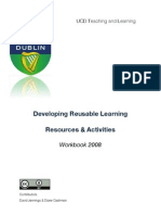 Developing reusable learning resources and activities: RLR Workbook Scd