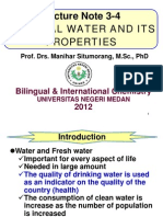 Lecture 3 and 4 Natural Water and Its Properties 2012_2