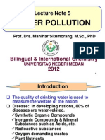 Lecture 5 Water Pollution 2012