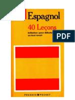 Langue Espagnol 40 Leçons Presses Pocket