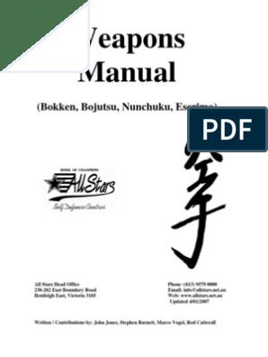 Weapons Manual Sword Karate